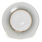 Radial White Gold Dinner Plate 11.5