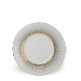 Radial White Gold Salad Plate 8.75