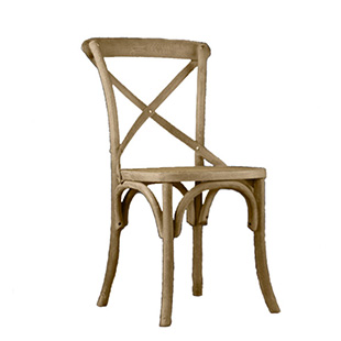 Bentwood Crossback Weathered Oak Chair