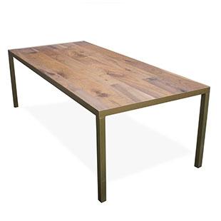 Walnut Gold Table 8'L x 42