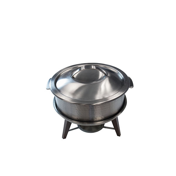 Hammered S/S Chafing Pot 3qt