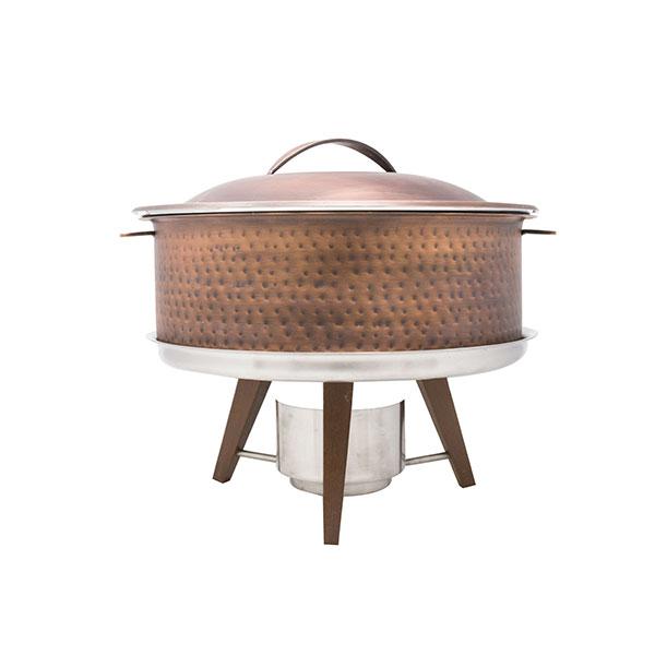 Hammered Copper Chafing Pot 6qt