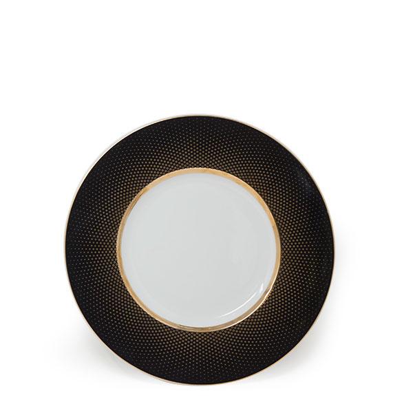 Radial Black Gold Salad Plate 8.75