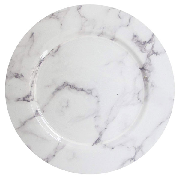 Marble Lacquer Charger 13