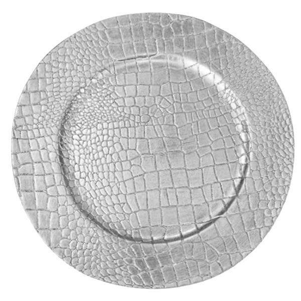 Silver Croc Lacquer Charger 13