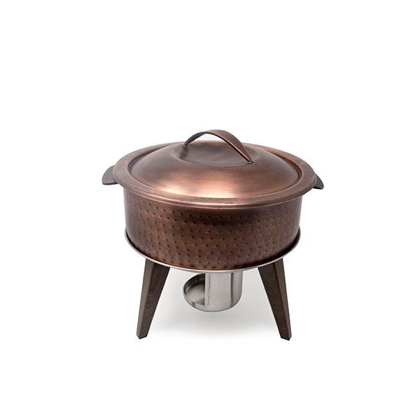 Hammered Copper Chafing Pot 3Qt